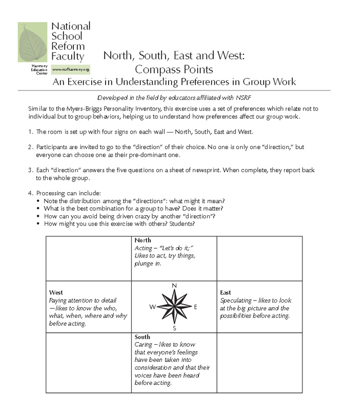 Compass Points - WMMS Discovery Education Cohort Information
